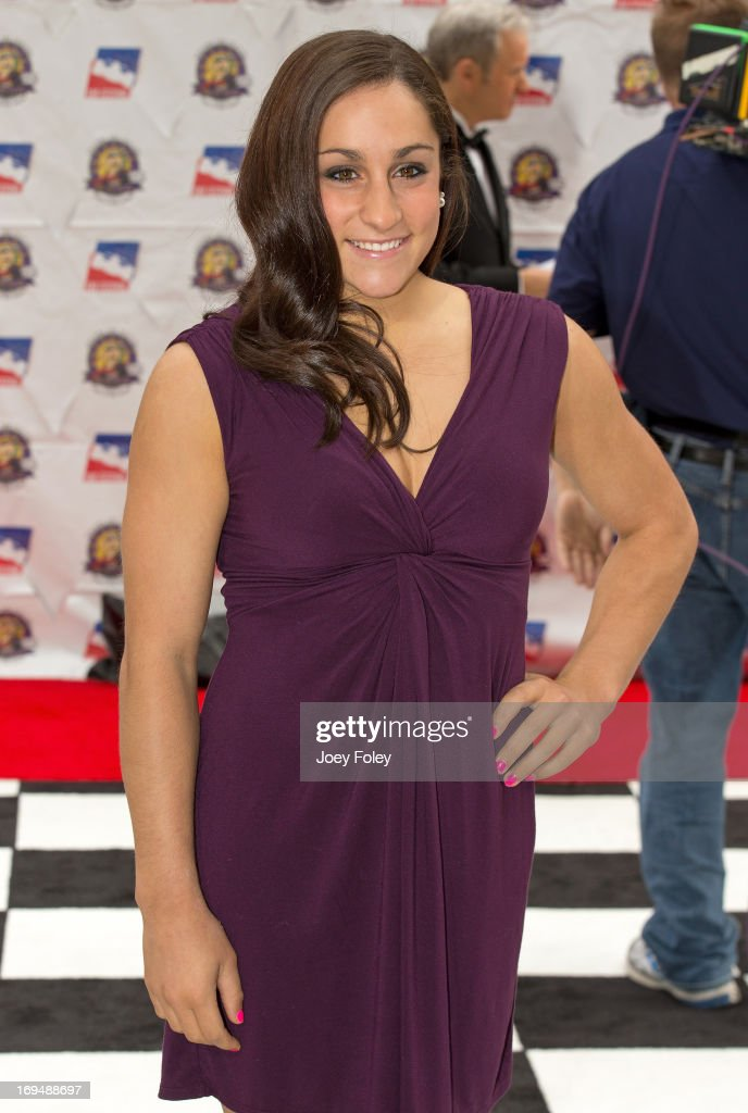 Olympic gymnast <a gi-track='captionPersonalityLinkClicked' href=/galleries/search?phrase=Jordyn+Wieber&family=editorial&specificpeople=5720749 ng-click='$event.stopPropagation()'>Jordyn Wieber</a> attends the 2013 Indy 500 Snakepit Ball at Indiana Roof Ballroom on May 25, 2013 in Indianapolis, Indiana.