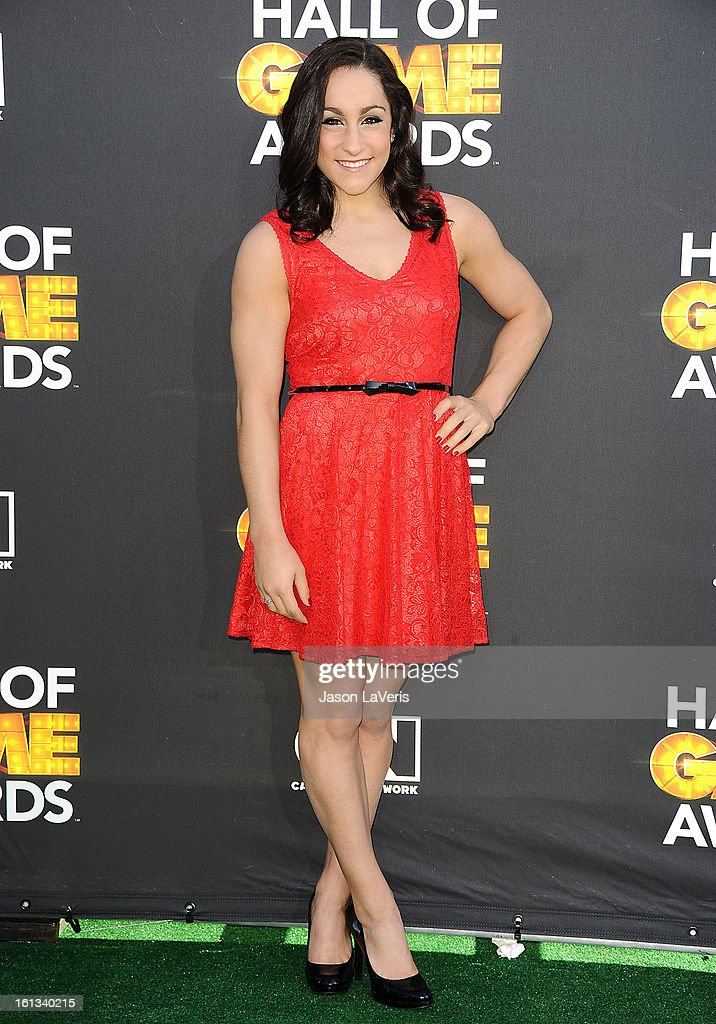 Olympic gymnast Jordyn Wieber attends the Cartoon Network 3rd annual Hall Of Game Awards at Barker Hangar on February 9, 2013 in Santa Monica, California.