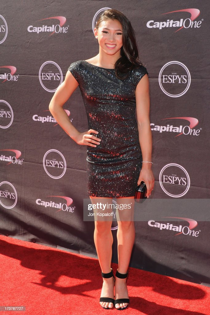 Olympic gymnast Kyla Ross arrives at The 2013 ESPY Awards at Nokia Theatre L.A. Live on July 17, 2013 in Los Angeles, California.