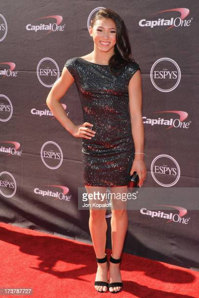 Olympic gymnast Kyla Ross arrives at The 2013 ESPY Awards at Nokia Theatre LA Live on July 17 2013 in Los Angeles California