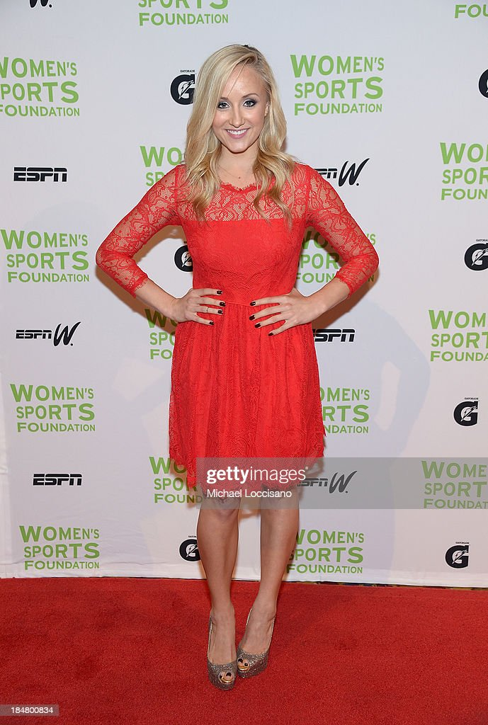 Olympic gymnast <a gi-track='captionPersonalityLinkClicked' href=/galleries/search?phrase=Nastia+Liukin&family=editorial&specificpeople=241334 ng-click='$event.stopPropagation()'>Nastia Liukin</a> attends the 34th annual Salute to Women In Sports Awards at Cipriani, Wall Street on October 16, 2013 in New York City.