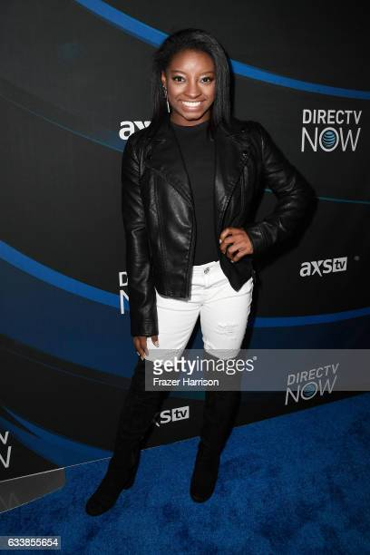 Olympic gymnast Simone Biles attends the 2017 DIRECTV NOW Super Saturday Night Concert at Club Nomadic on February 4 2017 in Houston Texas