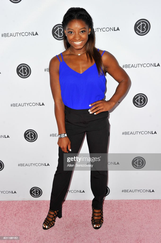 Olympic gymnast Simone Biles attends the 5th Annual Beautycon Festival Los Angeles at Los Angeles Convention Center on August 13, 2017 in Los Angeles, California.