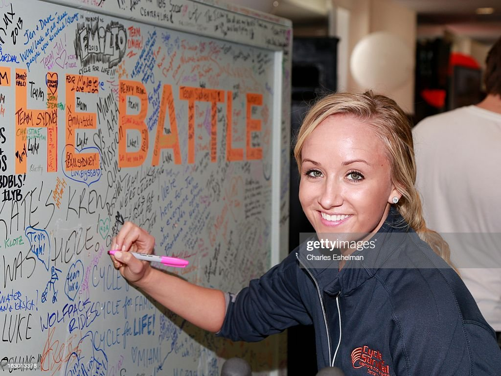 Olympic gymnastics medalist Nastia Liukin attends the 2013 Cycle For Survival Benefit at Equinox Rock Center on March 3, 2013 in New York City.