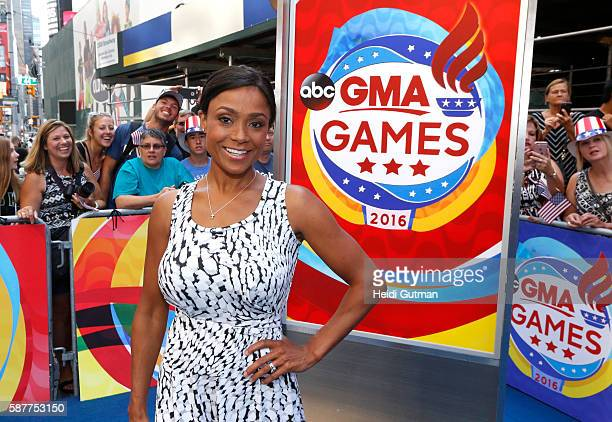 AMERICA Olympic Gymnasts Dominique Dawes and Mckayla Maroney are guests on 'Good Morning America' 8/9/16 airing on the ABC Television Network...