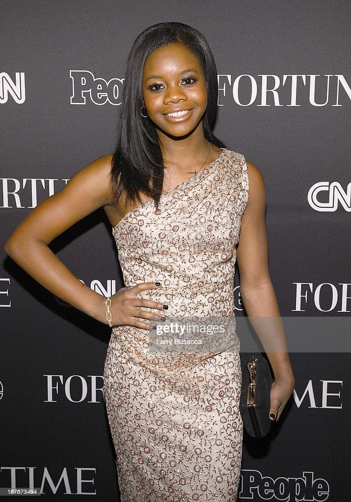 Olympic Gymnist Gabby Douglas attends the TIME/CNN/PEOPLE/FORTUNE Pre-Dinner Cocktail Reception at Washington Hilton on April 27, 2013 in Washington, DC.