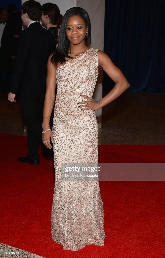 Olympic Gymnist Gabby Douglas attends the White House Correspondents' Association Dinner at the Washington Hilton on April 27, 2013 in Washington, DC.