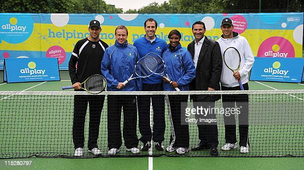 Olympic Hepthalete Denise Lewis Presenter Tim Lovejoy World Number One Doubles partners Bob and Mike Bryan of the USA Former British Number One Greg...