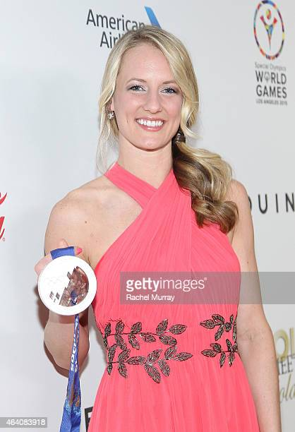 Olympic Hockey Player Brianne McLaughlin attends CW3PR presents Gold Meets Golden at Equinox Sports Club on February 21 2015 in Los Angeles California