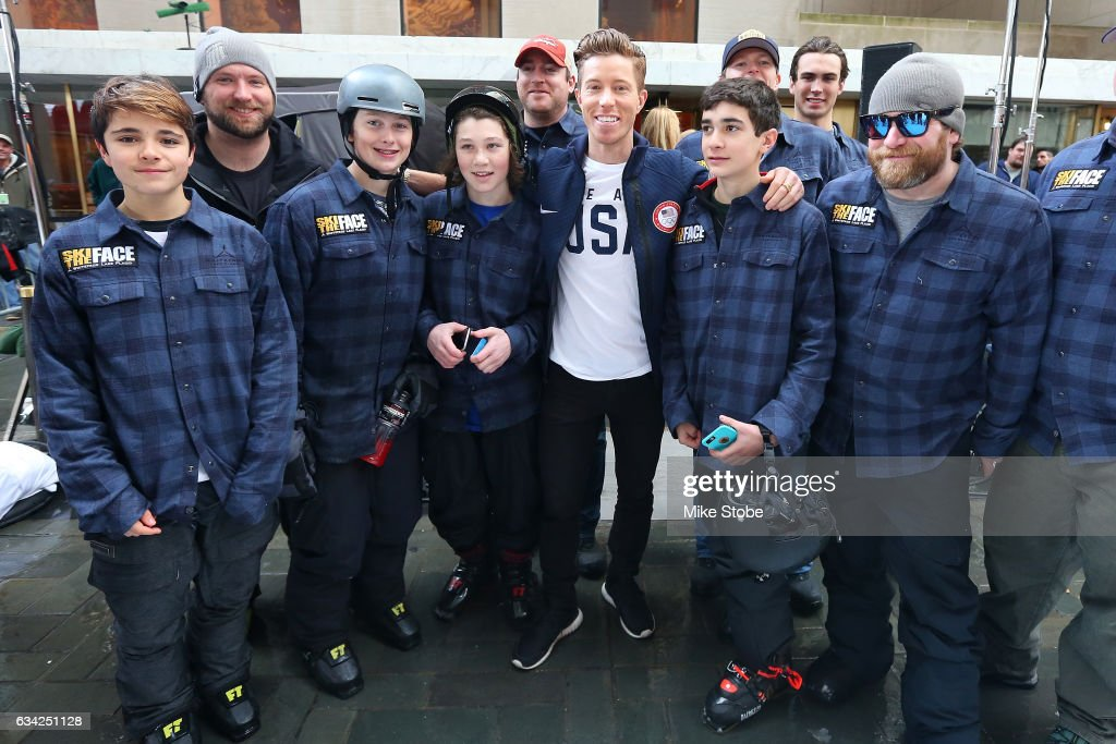 Olympic hopefull Shaun White attends the Team USA pose for a photo with fans during NBC's TODAY Show on February 8, 2017 in New York City. Team USA celebrates the one-year countdown to the Olympic Winter Games PyeongChang 2018.