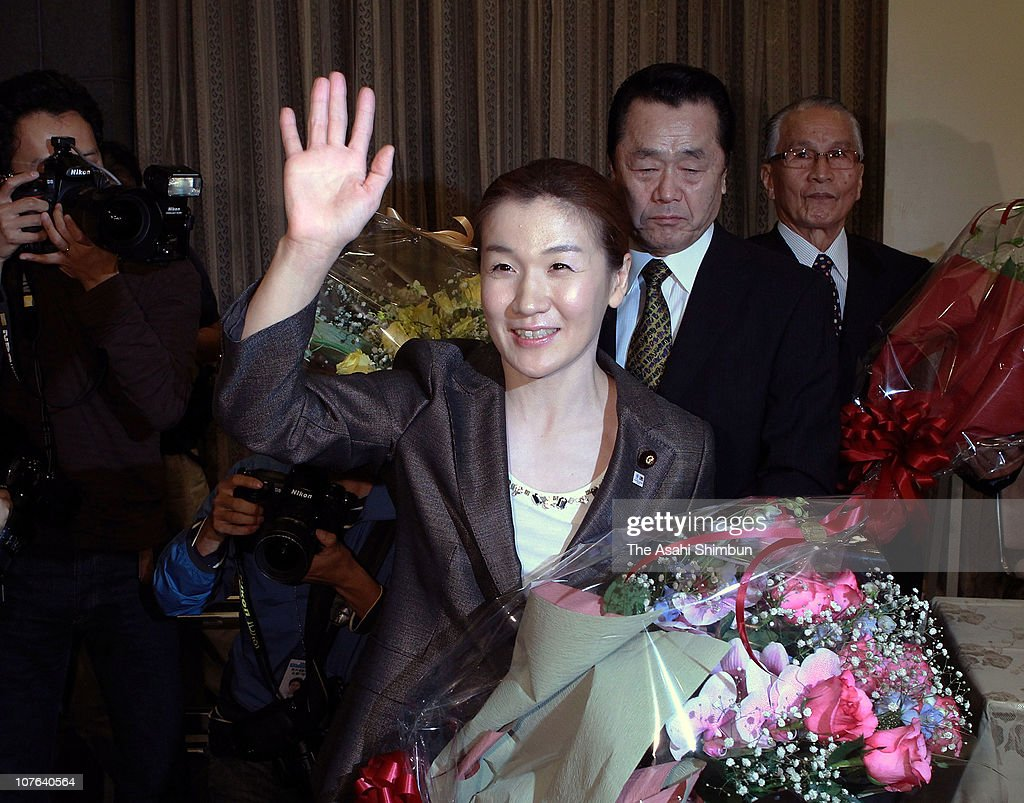 Olympic Judo gold medalist and upper house lawmaker <a gi-track='captionPersonalityLinkClicked' href=/galleries/search?phrase=Ryoko+Tani&family=editorial&specificpeople=2107244 ng-click='$event.stopPropagation()'>Ryoko Tani</a> leaves a conference room after announcing her retirement from Judo on October 15, 2010 in Tokyo, Japan.