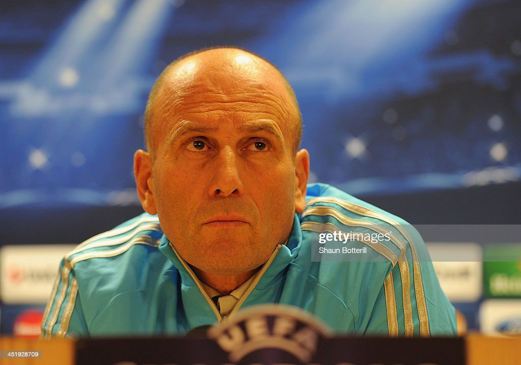 Olympique de Marseille Training and Press Conference