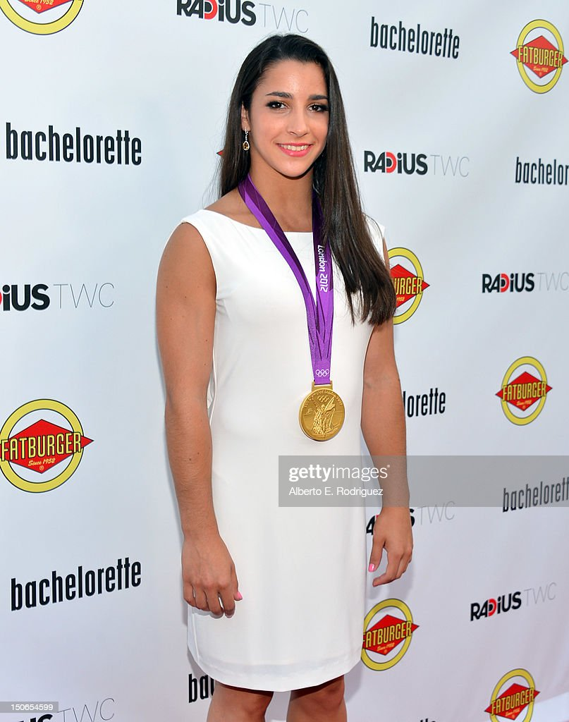 Olympic medalist Aly Raisman arrives at the premiere of RADiUS-TWC's 'Bachelorette' at ArcLight Cinemas on August 23, 2012 in Hollywood, California.