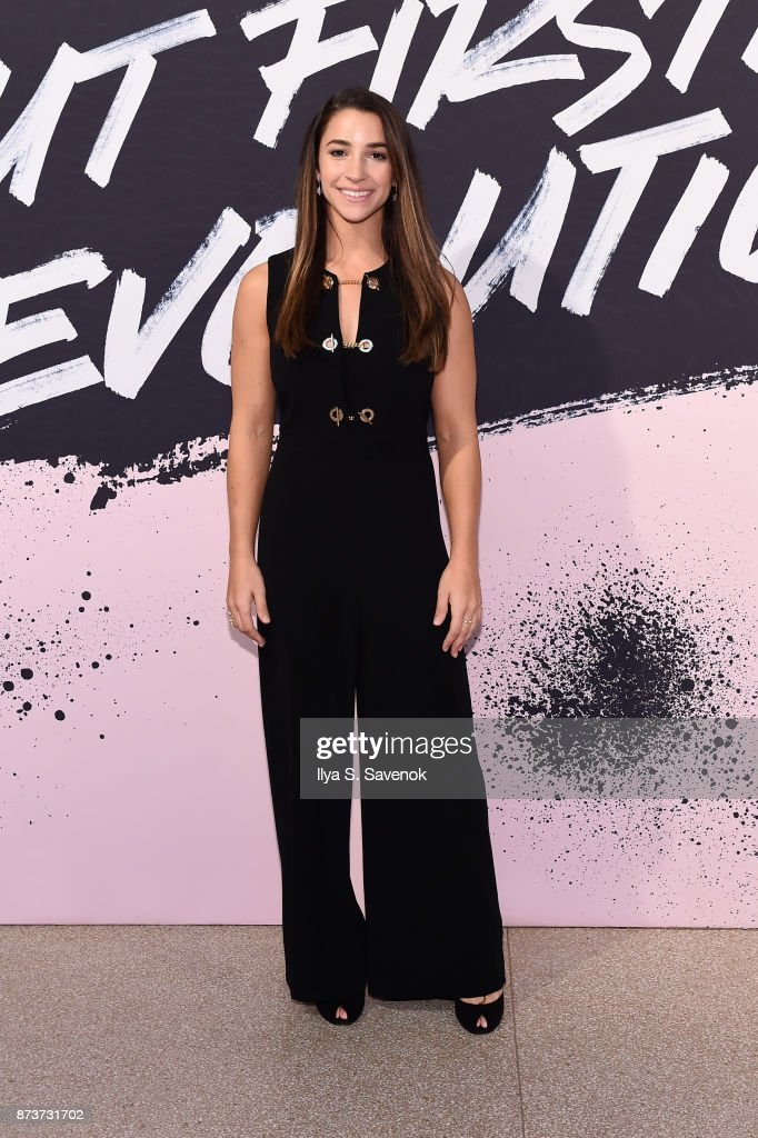 U.S. Olympic Medalist Aly Raisman poses during Glamour Celebrates 2017 Women Of The Year Live Summit at Brooklyn Museum on November 13, 2017 in New York City.