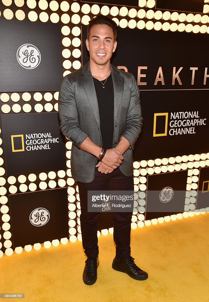 Olympic medalist Apolo Ohno attends National Geographic Channel's 'Breakthrough' world premiere event at The Pacific Design Center on October 26, 2015 in West Hollywood, California.
