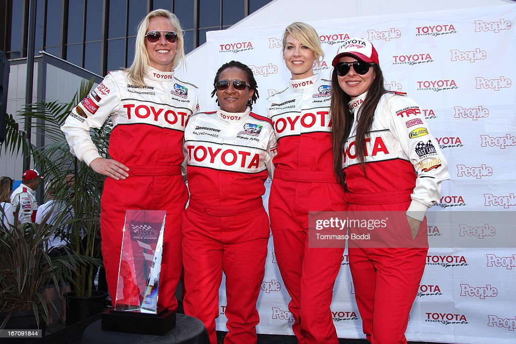 USA Olympic Medalist Jessica Hardy, actresses Wanda Sykes, Jenna Elfman and Kate Del Castillo attend the 37th Annual Toyota Pro/Celebrity Race qualifying day on April 19, 2013 in Long Beach, California.