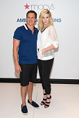 Olympic Medalist Ryan Lochte and Model Ireland Baldwin visit Macy's Herald Square on May 21 2014 in New York City