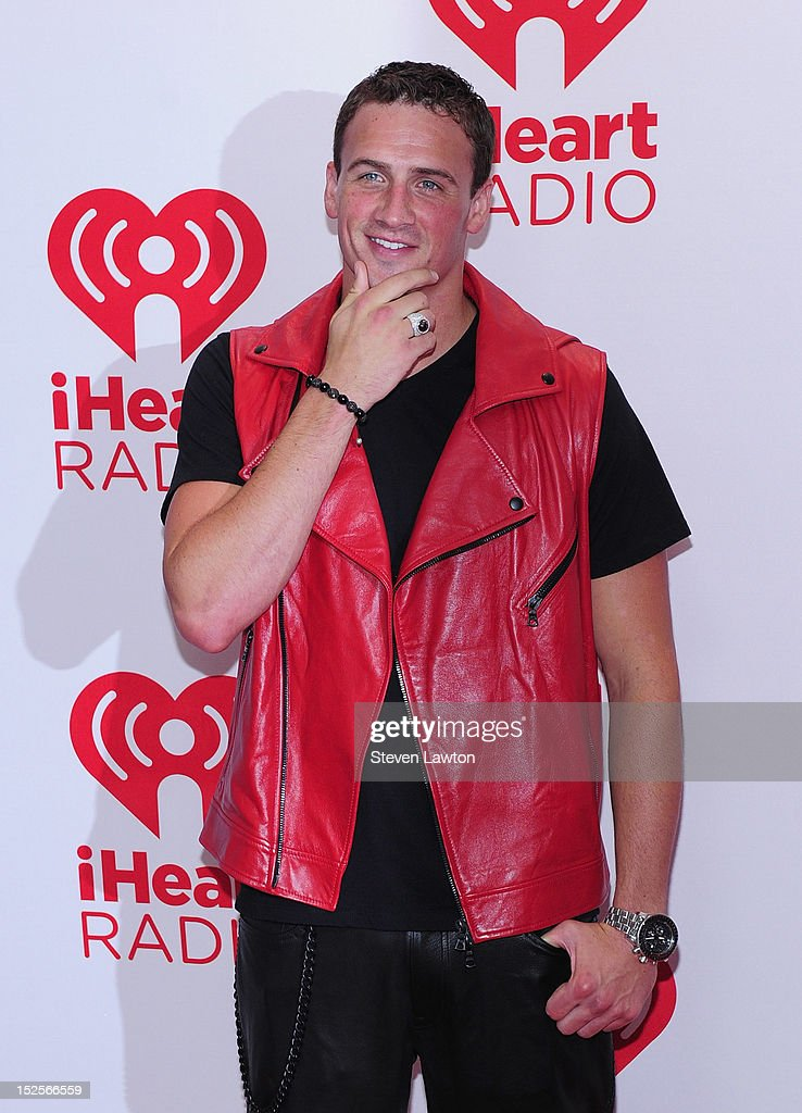 Olympic medalist Ryan Lochte poses in the press room at the iHeartRadio Music Festival at the MGM Grand Garden Arena September 21, 2012 in Las Vegas, Nevada.