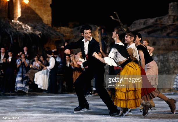 Olympic medalists Brian Orster and Katarina Witt perform in the 1990 television program Carmen on Ice The program filmed by Horant H Hohlfeld is...
