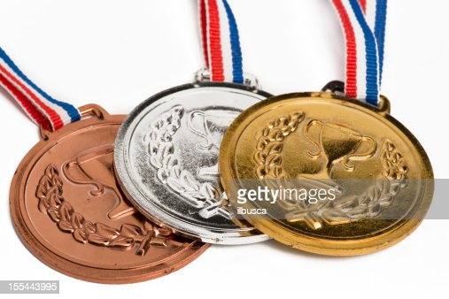オリンピックメダル白で分離