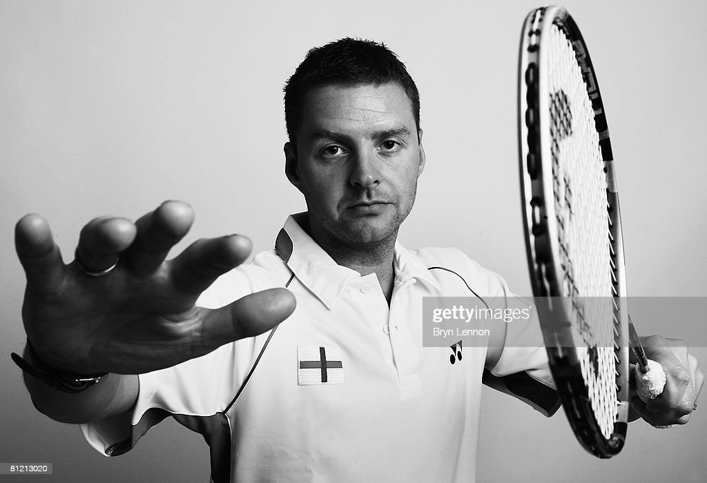 Olympic Men's Singles player Anthony Clark poses for a photo prior to a training session at the National Badminton Centre on May 22, 2008 in Milton Keynes, England.
