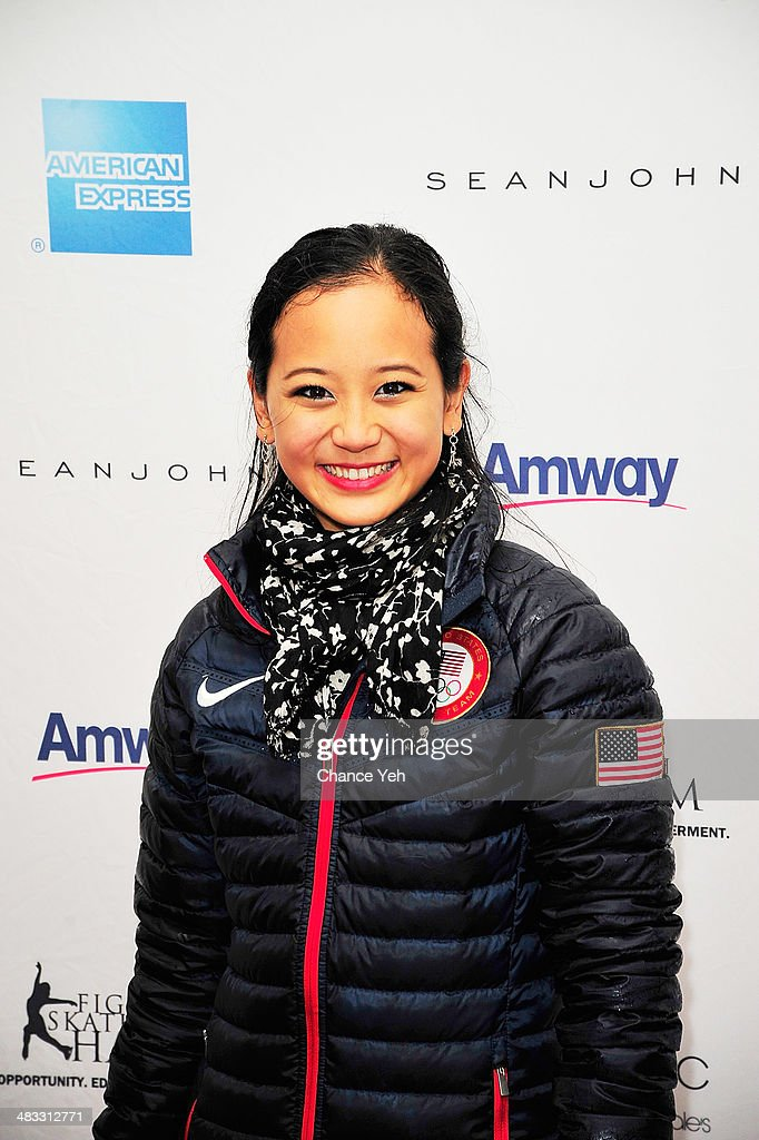 US Olympic Pair Skater <a gi-track='captionPersonalityLinkClicked' href=/galleries/search?phrase=Felicia+Zhang&family=editorial&specificpeople=7338307 ng-click='$event.stopPropagation()'>Felicia Zhang</a> attends the 2014 Skating With The Stars at Trump Rink at Central Park on April 7, 2014 in New York City.