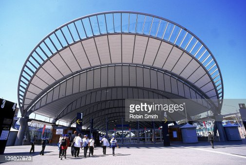 Olympic Park Railway Station Homebush Bay Sydney Stock Photo
