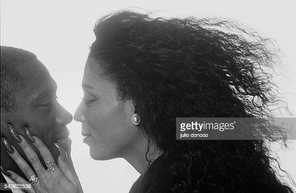 Olympic runner Florence Griffith Joyner embraces her husband coach and triple jump champion Al Joyner Flo Jo won the gold medal in the 1988 Olympic...
