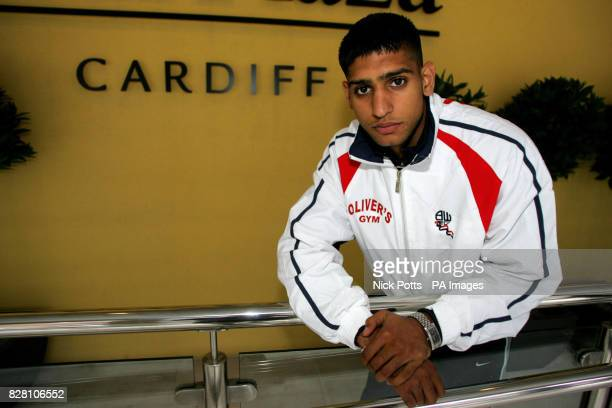 Olympic Silver Medalist Amir Khan following a press conference at The Park Plaza Hotel Cardiff Thursday September 8 2005 Both Khan and World...