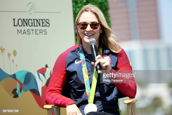 Olympic Silver Medalist Lucy Davis attends the Longines Masters of Los Angeles preview at Shoreline Aquatic Park on August 29 2016 in Long Beach...