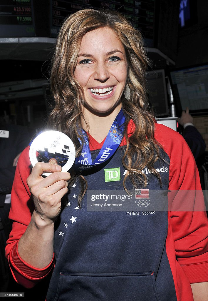 Olympic Silver Medalist Noelle Pikus Pace attends the opening bell at New York Stock Exchange on February 26 2014 in New York City