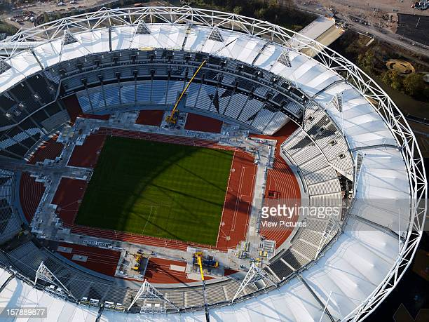 Olympic Site Populous London Uk View From The Air With Olympic Stadium Various United Kingdom Architect