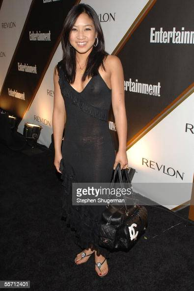 Olympic skater Michelle Kwan arrives to the Entertainment Weekly Emmy PreParty at the Cabana Club on September 17 2005 in Hollywood California