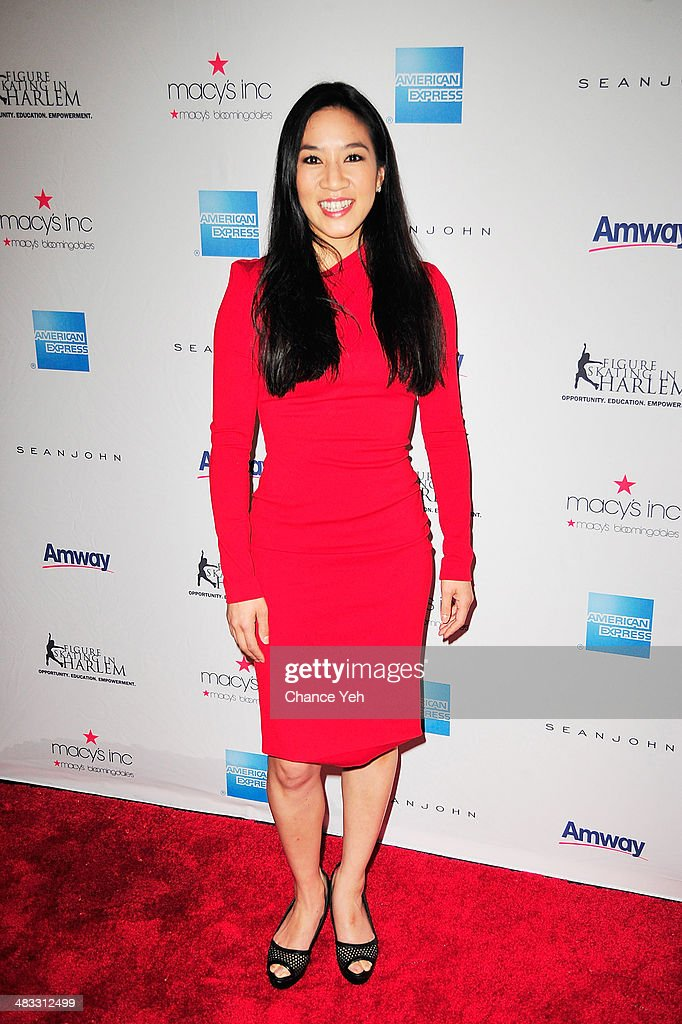 US Olympic Skater <a gi-track='captionPersonalityLinkClicked' href=/galleries/search?phrase=Michelle+Kwan&family=editorial&specificpeople=201485 ng-click='$event.stopPropagation()'>Michelle Kwan</a> attends the 2014 Skating With The Stars at Trump Rink at Central Park on April 7, 2014 in New York City.