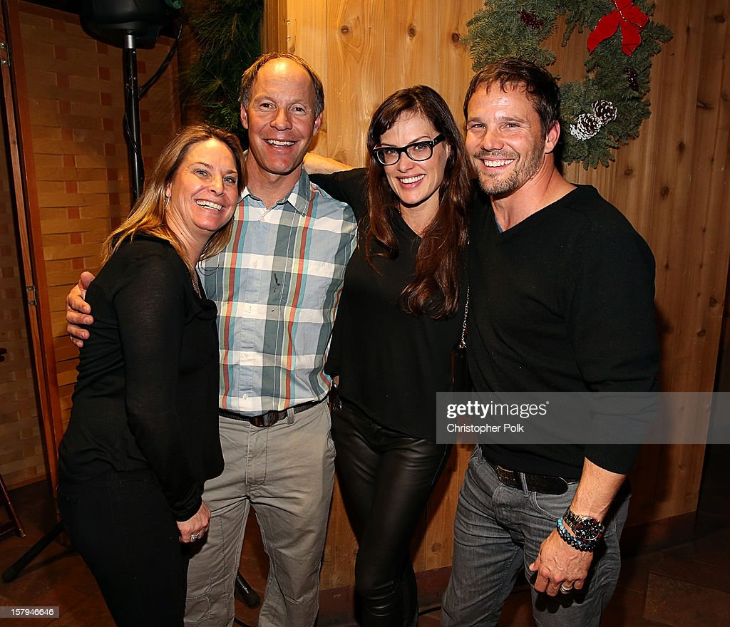 US Olympic Ski team member Heidi Voelker, Olympic Gold Medalist Tommy Moe, actor Dylan Bruno and Emmeli Bruno attend the Deer Valley Celebrity Skifest at Deer Valley Resort on December 7, 2012 in Park City, Utah.