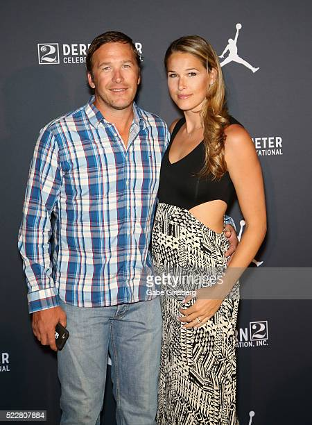 Olympic skier and World Cup alpine ski racer Bode Miller and his wife professional beach volleyball player/model Morgan Beck arrive at the Liquid...