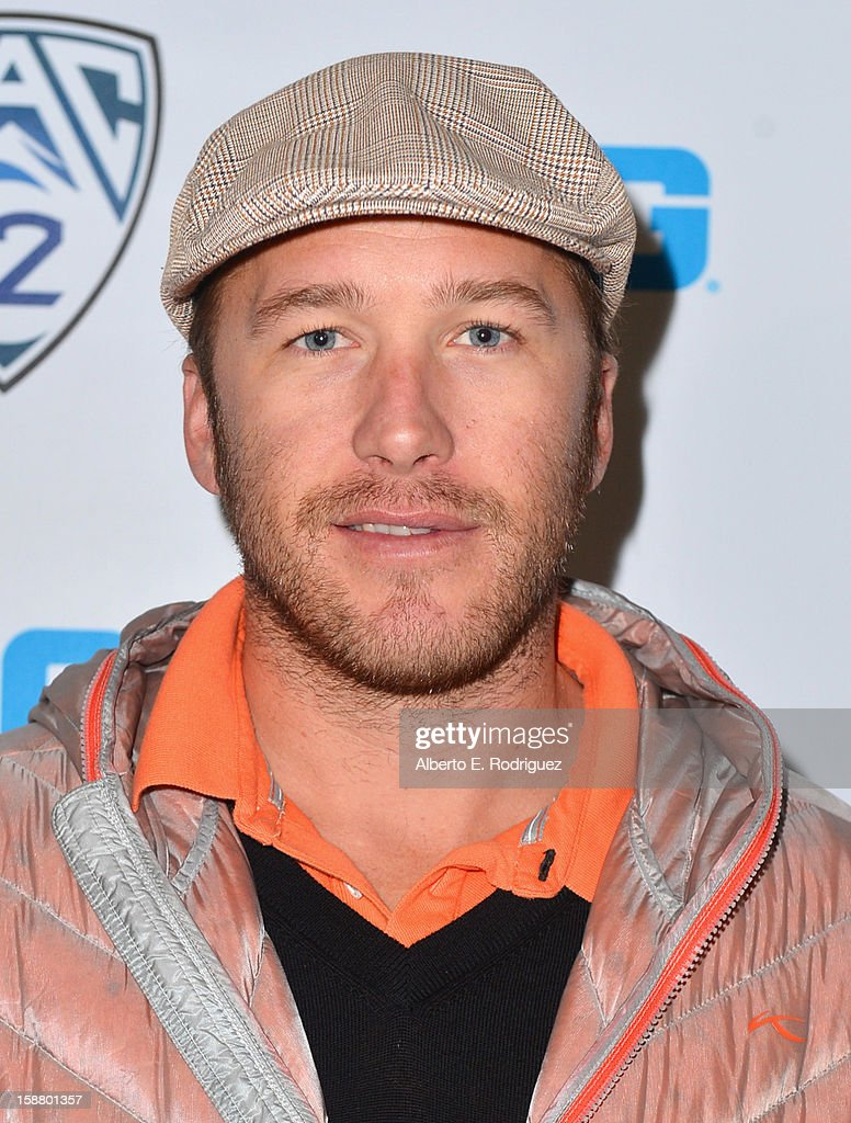 Olympic Skier <a gi-track='captionPersonalityLinkClicked' href=/galleries/search?phrase=Bode+Miller&family=editorial&specificpeople=194742 ng-click='$event.stopPropagation()'>Bode Miller</a> arrives to the innaugural Rose Bowl Game Golf Classic at Industry Hills Golf Course on December 29, 2012 in City of Industry, California.