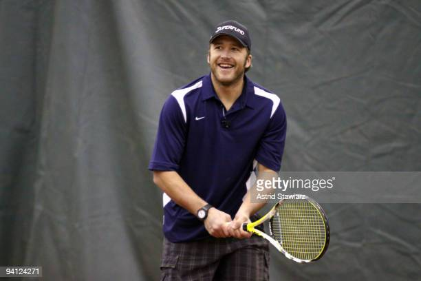 Olympic skier Bode Miller participates in Hublot's Tennis Fusion Celebrity Challenge at Sutton East Tennis Club on December 7 2009 in New York City