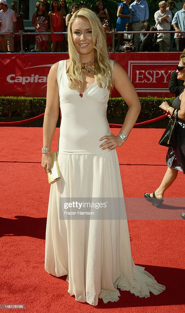 US Olympic Skier Lindsey Vonn arrives at the 2012 ESPY Awards at Nokia Theatre L.A. Live on July 11, 2012 in Los Angeles, California.