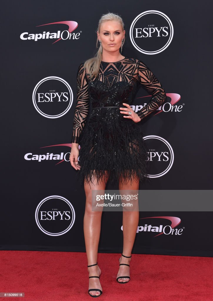 Olympic skier Lindsey Vonn arrives at the 2017 ESPYS at Microsoft Theater on July 12, 2017 in Los Angeles, California.