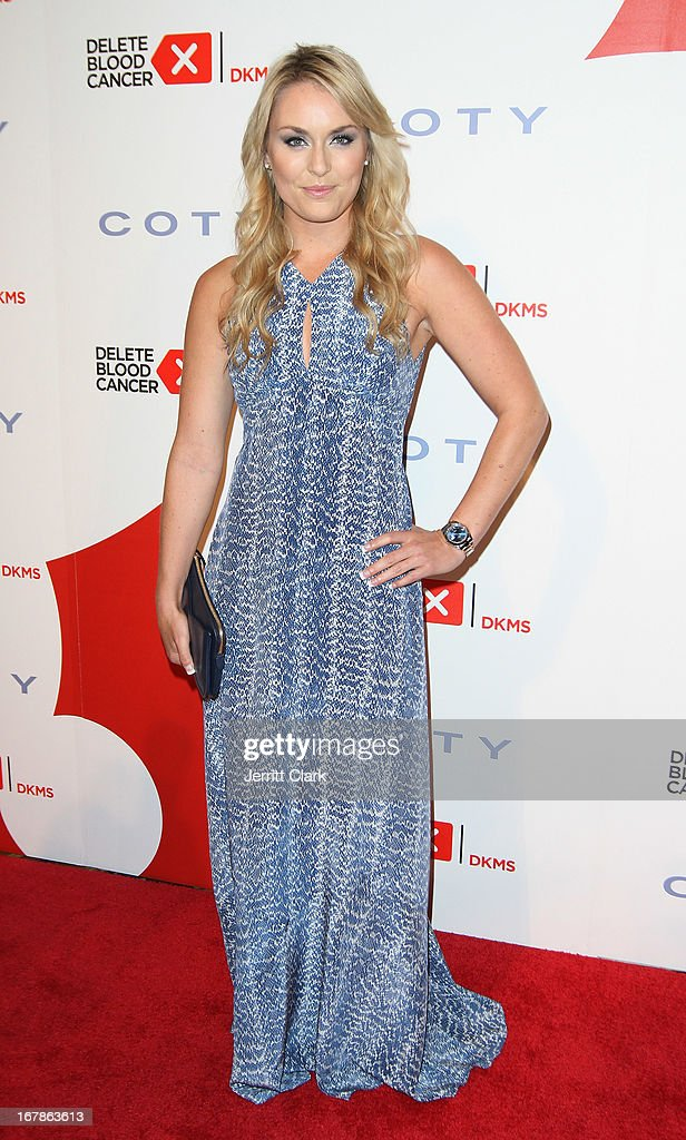 Olympic Skier Lindsey Vonn attends the 2013 Delete Blood Cancer Gala at Cipriani Wall Street on May 1, 2013 in New York City.