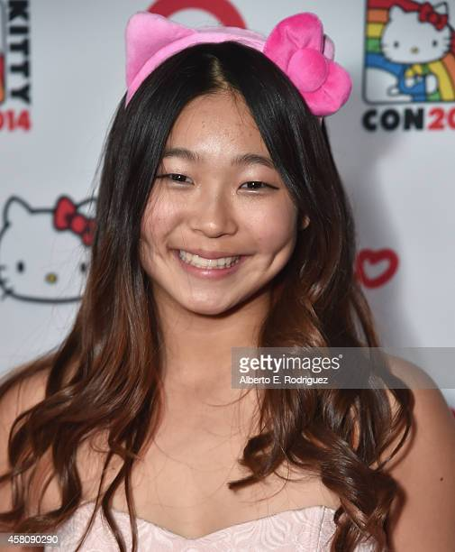 Olympic snowboarder Chloe Kim arrives to Hello Kitty Con 2014 Opening Night Party Cohosted by Target on October 29 2014 in Los Angeles California