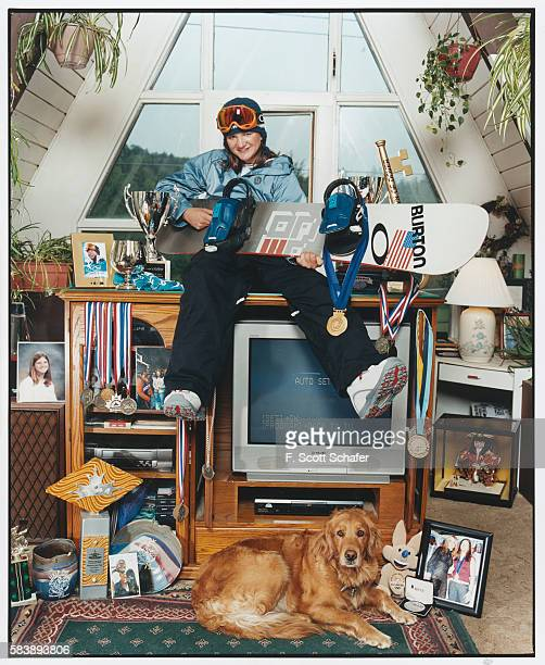 Olympic snowboarder Kelly Clark is photographed for ESPN The Magazine in 2002