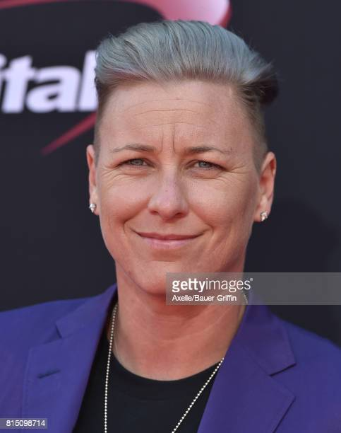 Olympic soccer player Abby Wambach arrives at the 2017 ESPYS at Microsoft Theater on July 12 2017 in Los Angeles California