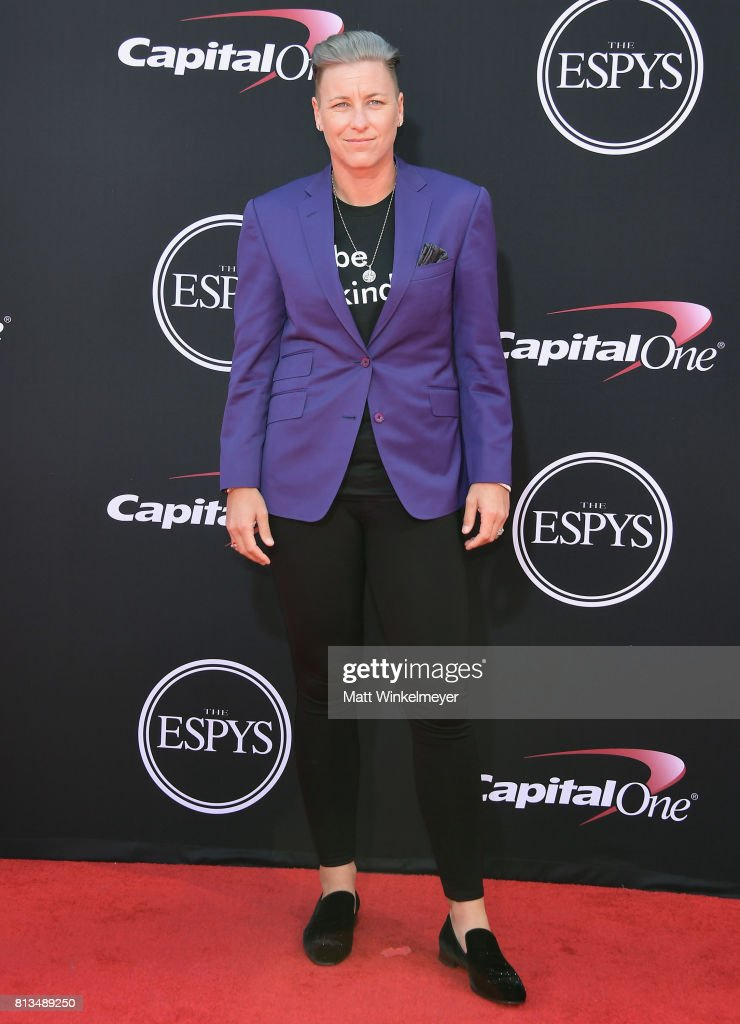 Olympic soccer player Abby Wambach attends The 2017 ESPYS at Microsoft Theater on July 12, 2017 in Los Angeles, California.