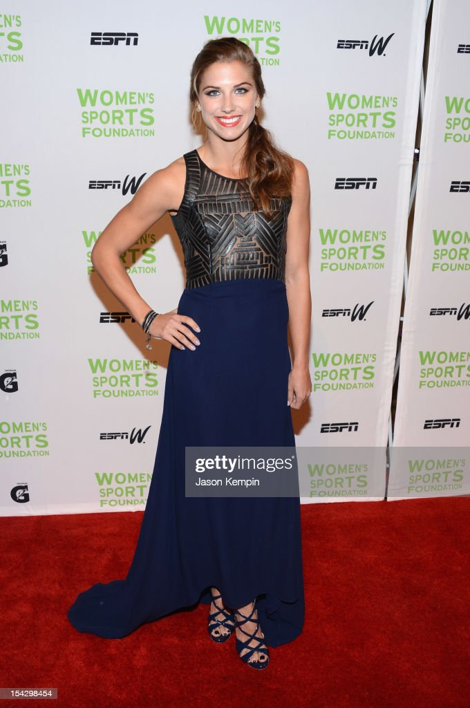 Olympic soccer player Alexandra 'Alex' Morgan attends the 33rd Annual Salute To Women In Sports Gala at Cipriani Wall Street on October 17 2012 in...