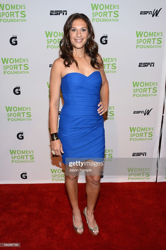 Olympic soccer player <a gi-track='captionPersonalityLinkClicked' href=/galleries/search?phrase=Carli+Lloyd&family=editorial&specificpeople=736799 ng-click='$event.stopPropagation()'>Carli Lloyd</a> attends the 33rd Annual Salute To Women In Sports Gala at Cipriani Wall Street on October 17, 2012 in New York City.