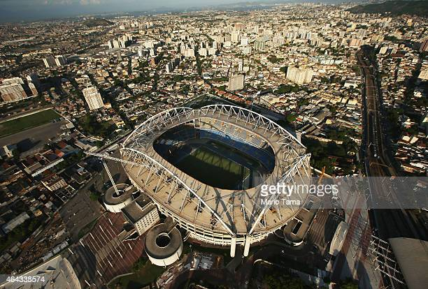 Olympic Stadium a primary Rio 2016 Olympic Games venue is shown on February 24 2015 in Rio de Janeiro Brazil The city of Rio continues to prepare to...