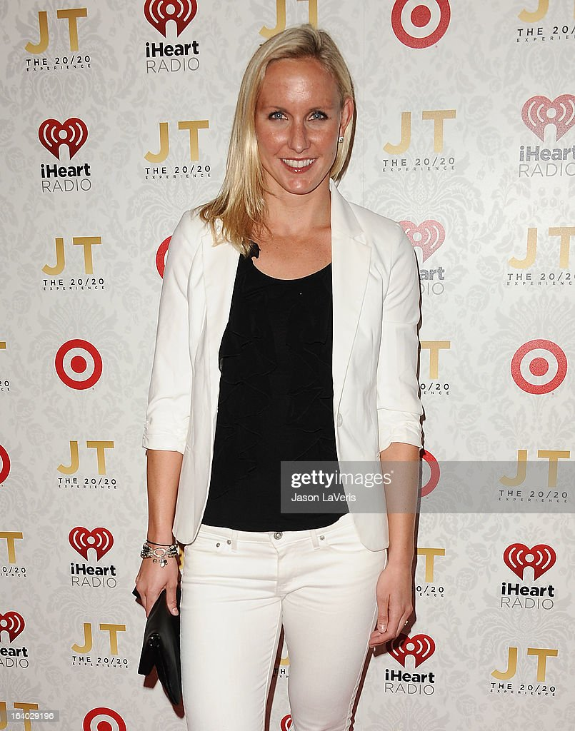 Olympic swimmer Jessica Hardy attends the '20/20' album release party with Justin Timberlake at El Rey Theatre on March 18, 2013 in Los Angeles, California.