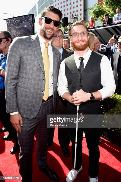 Olympic swimmer Michael Phelps and guest attend The 2017 ESPYS at Microsoft Theater on July 12 2017 in Los Angeles California